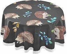 TropicalLife Rulyy Tablecloth Hedgehog Fruit Leaf