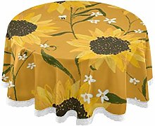 TropicalLife Rulyy Tablecloth Sunflower Painting