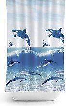 Tropik home Bathroom Fabric Shower Curtain Extra