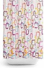 Tropik home Colourful Fabric Shower Curtain Extra