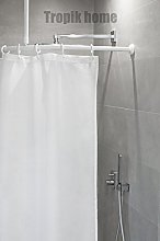 Tropik home Curved Shower Curtain Rail Pole Rod