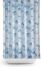 Tropik home Extra Long Fabric Shower Curtain 180cm
