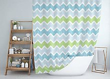 Tropik home Extra Long Fabric Shower Curtain with