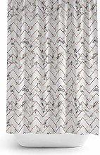Tropik home New Fabric Shower Curtain Extra Long