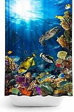 Tropik home Sea Life Extra Long Fabric Shower