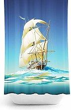 Tropik home Ship Design Extra Long Fabric Shower