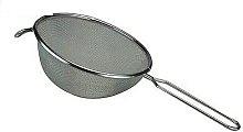 TRTO 20Cm Stainless Steel Strainer Tin Silver Tea