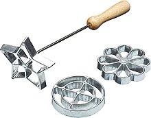 TRTO Swedish Scandinavian Rosette Iron Biscuit and