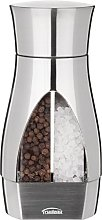 Trudeau Pepper mill 2in1 in silver, Metal, 5.2 x