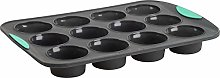 Trudeau Structured Silicone Muffin Pan, 12 Cup,