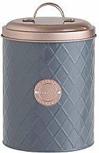 Truenova Grey Copper Cookie Biscuit Barrel Tin
