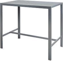 Trueshopping - Grey High Outdoor Bar Table Durable