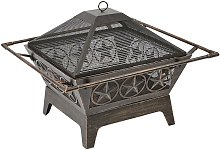 Trueshopping - Large Outdoor Steel Fireplace Pit