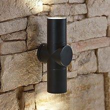 Trueshopping - Modern Curved Black Outdoor Wall