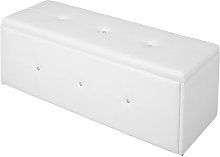 Trunk Mercury Row Upholstery Colour: White