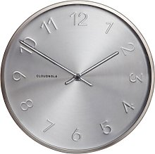 Trusty 30cm Wall Clock Cloudnola Colour: Silver