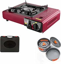 Tsdhjk Portable Camping Gas Cooker with Teapot