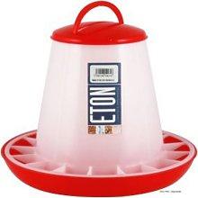 TSF3 Robust Plastic Chick Feeder (3kg) (Red) - Eton