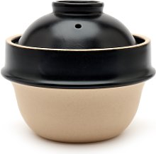 Tsukamoto Pottery - Black Clay Rice Cooker 1 Cup