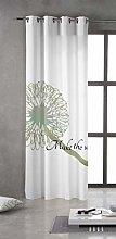Tsuki Curtain, Texture, Green, Single