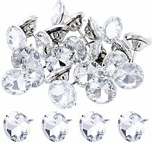 TsunNee 50PCS Crystal Head Upholstery Nails, 30mm