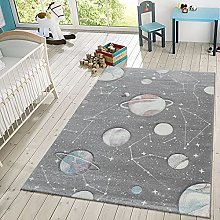 TT Home Children's Rug, Play Rug With Planets