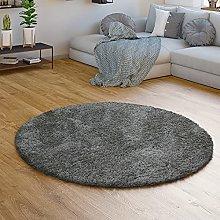 TT Home Deep-Pile Rug Grey Living Room Shaggy Long