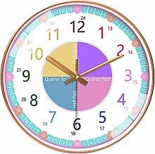 TTAototech Time Teacher Clock Children Wall Clock,