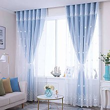 TTJJ GOPG Double Layer Voile Curtain, Opaque with