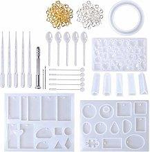 TTlove 127Pcs Handmade Crystal Glue Mould Mold Set
