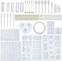 TTlove 229 Pieces Silicone Resin Mould Tools Set