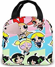 TTmom Lunch Bag Tote Powerpuff Girls Lunchbox