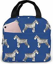 TTmom Schnauzer Dog Lunch Bag Reusable Insulated