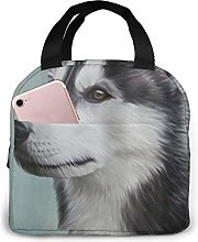 TTmom Siberian Husky Dog Neoprene Lunch Bag