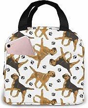 TTmom Trotting Border Terriers Lunch Bag Reusable