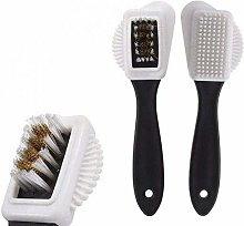TTZY Leather shoe brush 3 side cleaning brush and