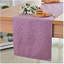 TUANZI Exquisite table runner Plain Linen Table