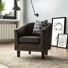 Tub Chair Marlow Home Co. Upholstery Colour: Black