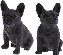 Tubayia Pack of 2 Bulldog Model Animal Figurine