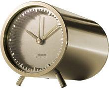 Tube Desk clock - Ø 5 cm by LEFF amsterdam Gold