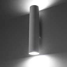 Tube wall light, up/down, white