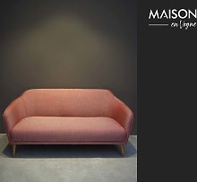Tuileries sofa in red Jacquard fabric