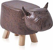 TUKAILAI Bull Animal Shape Footstools Upholstered