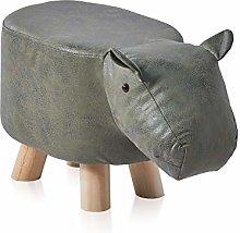 TUKAILAI Hippo Shape Footstools Upholstered
