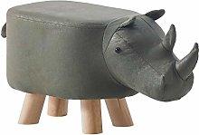 TUKAILAI Rhinoceros Shape Footstools Upholstered
