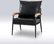 TUKAILAI Single Faux Leather Sofa Lounge Soft