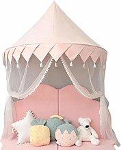 Tuker]Kids Play Tent Pink Princess Castle Play