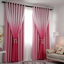Tulle and Blackout Curtains Set,Double Layer