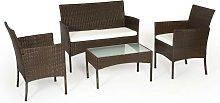 TULUM - Set of Garden Furniture in Resin - Brown