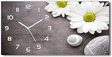 Tulup Glass Wall Clock 23.62x11.21 Inch Wallclock